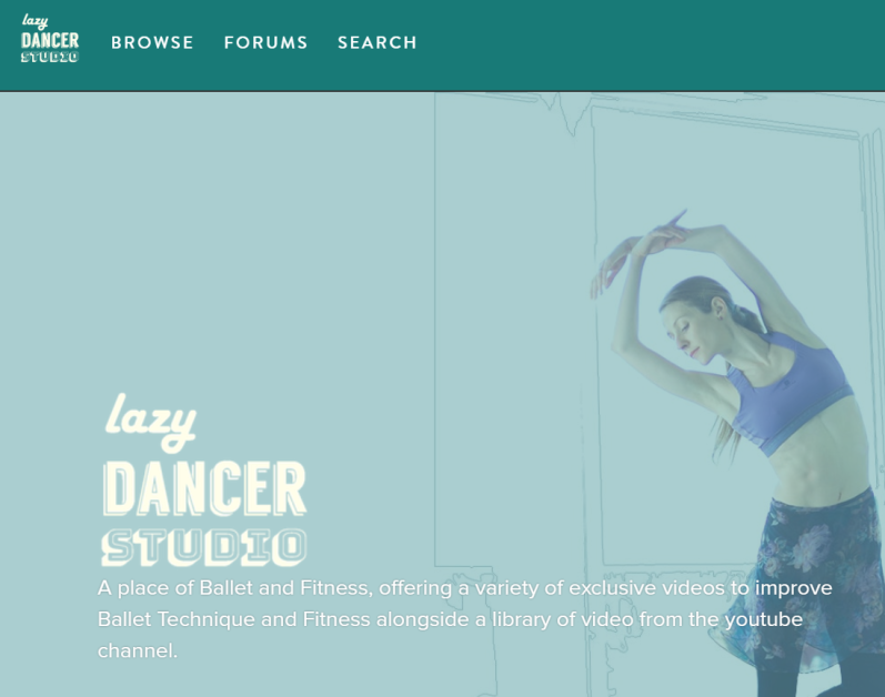 lazydancertips.com webpage woman dancing ballet