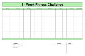 Chart for tracking a fitness competition