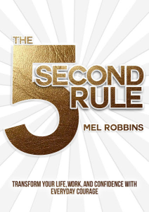 book cover the 5 second rule by mel robbins
